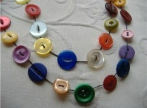 Making Button Necklaces