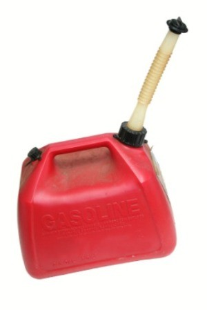 A red gas can.