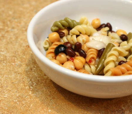 3 bean pasta salad