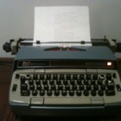 Electric typewriter.