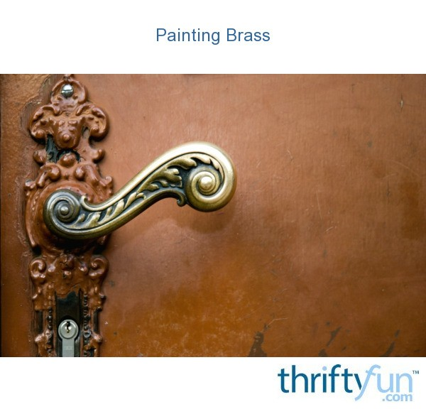 paint brass fireplace doors.  Painting Brass ThriftyFun