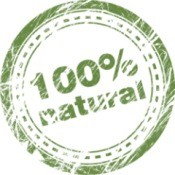 100 percent natural badge.