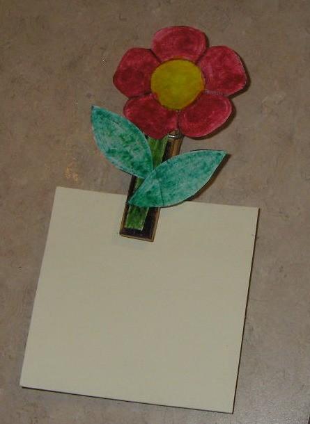 Spring Flower Photo or Note Magnet - Finished flower magent.