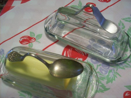 Silverware for Butter Dish Handle