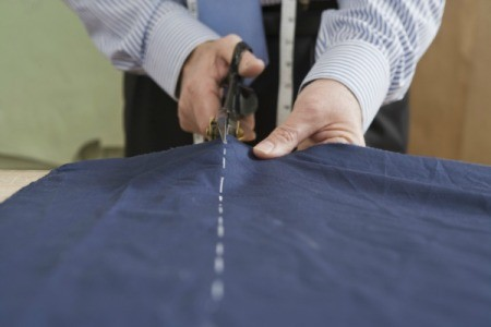Cutting Fabric Straight With Scissors