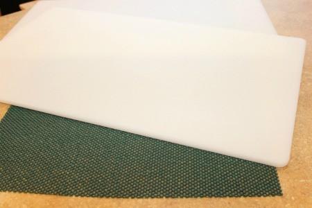 shelf liner under board