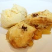 muffin tin peach cobbler
