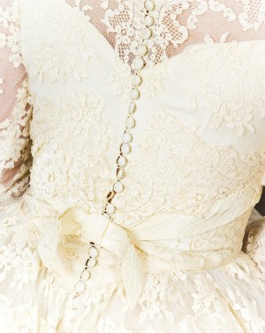 Yellowed Lace on a Dress