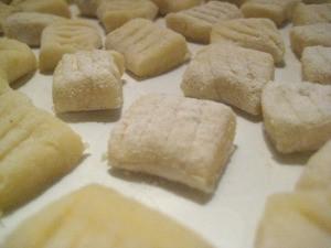 Gnocchi ready to boil.