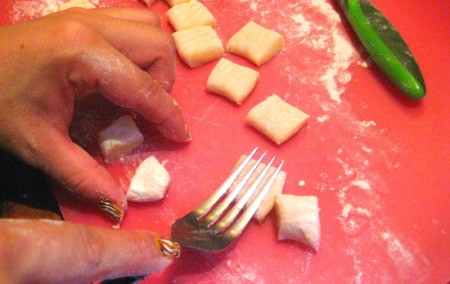 Creating fork grooves.