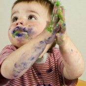 Boy with Fingerpaints