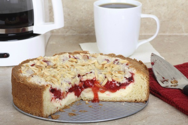 Cherry Coffee Cake Made With Bisquick