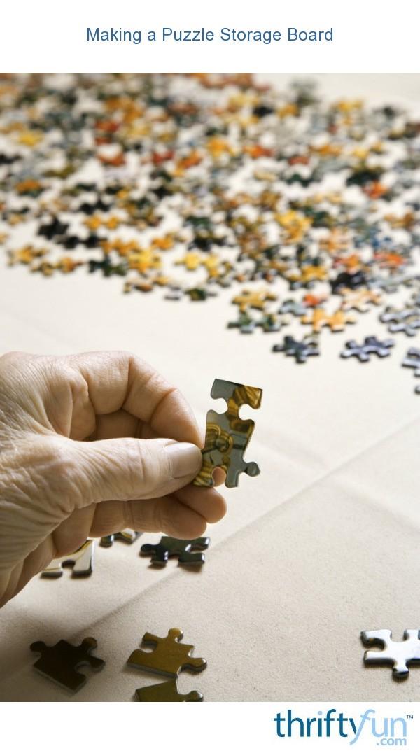 Making A Puzzle Storage Board Thriftyfun