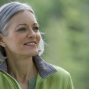 woman with graying hair