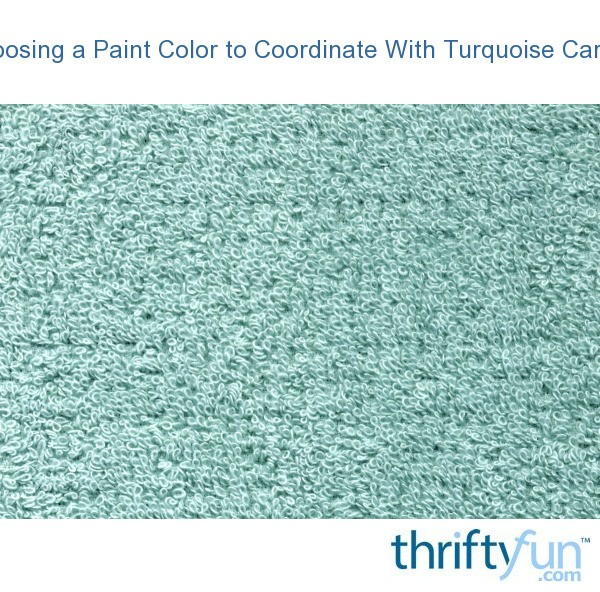 Choosing a paint color to coordinate with turquoise carpet for Choosing a rug color