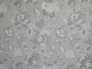 Gray floral design.