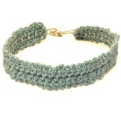 Green Crochet Necklace