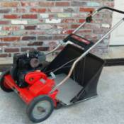 Reel mower with a very small motor.