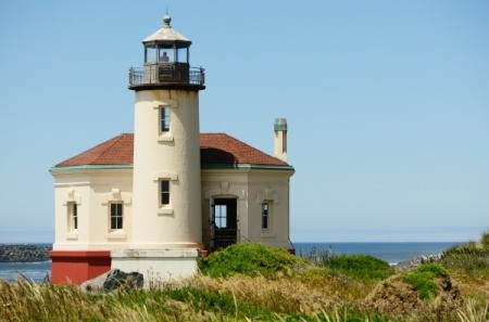 Coquille Lighthouse in Bandon, Oregon