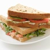 Sandwich with mayonnaise alternative.
