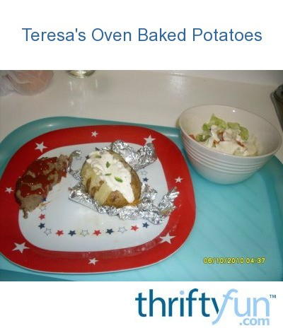 how to cook baked potato in oven with aluminum foil