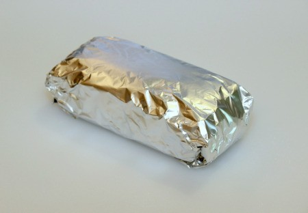loaf wrapped in foil