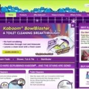 Screenshot of Kaboom's website.