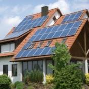 Solar Power on a House