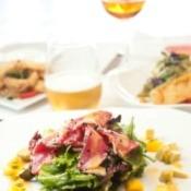 Sesame salad dressing on a tuna salad.