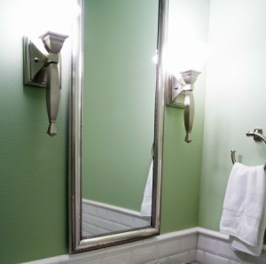 clean bathroom mirror