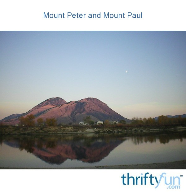 Mount Peter And Mount Paul Kamloops Bc Thriftyfun