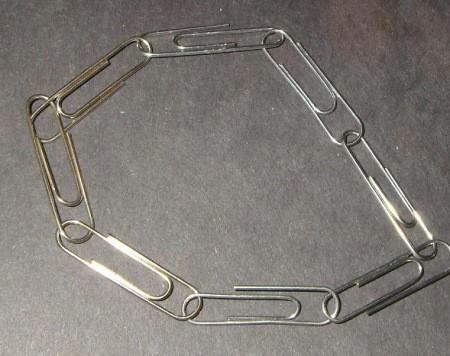 Bracelet of clips.
