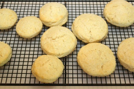 shortcakes on cooling rack