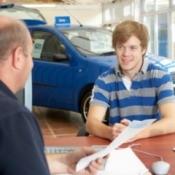 consumer buying a car