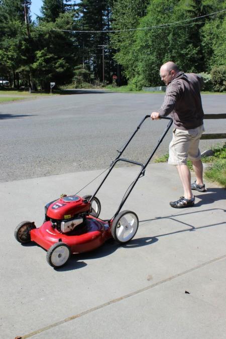 start mower