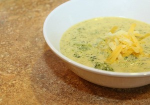 upclose of soup in bowl