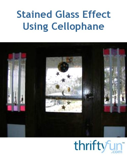 Stained Glass Effect Using Cellophane Thriftyfun