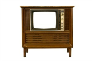 Old Cabinet TV