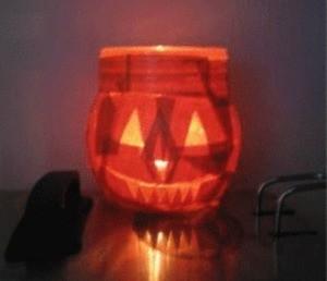 Jack-o-Lantern Candle Holder