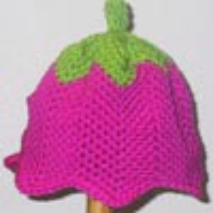 Crochet tulip cap.