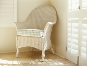 Painted Wicker Chair