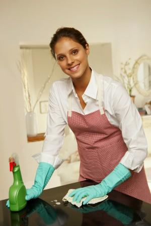 A female house cleaner.