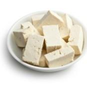 Tofu in a bowl.
