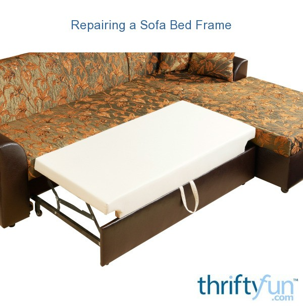 Magnificent Repairing A Sofa Bed Frame Thriftyfun Evergreenethics Interior Chair Design Evergreenethicsorg