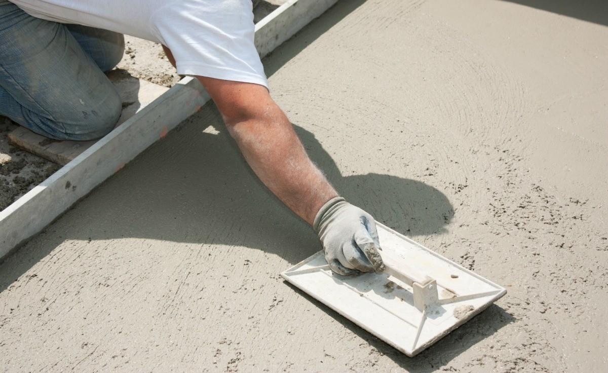 железнение пола цементом