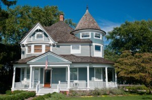 A Victorian house.