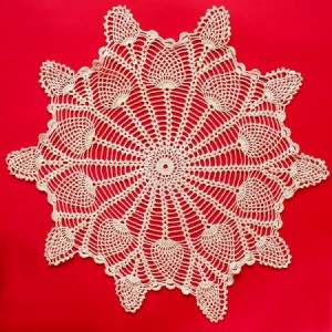 Wagon Wheel Doily