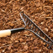Raking Mulch