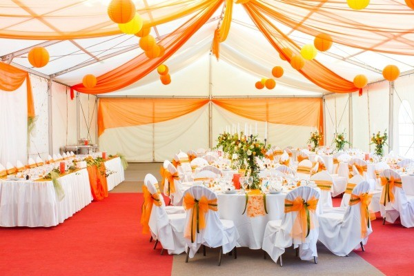 Name ideas for a party decorating business thriftyfun a nicely decorated wedding reception junglespirit Choice Image