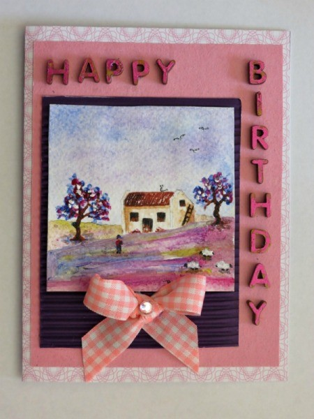 Making A Miniature Art Birthday Card